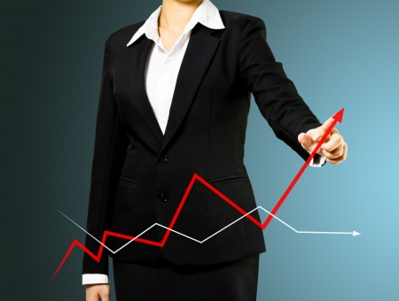 Business woman and growth graph