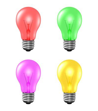 light bulb on yellow background Stock Photo - 14627101