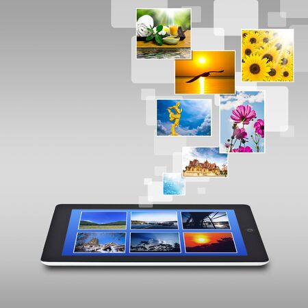touchscreen tablet photo