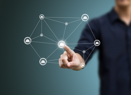 information society: social network structure Stock Photo