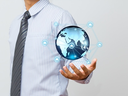 worldwide web: social network structure Stock Photo