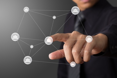 social network structure Stock Photo