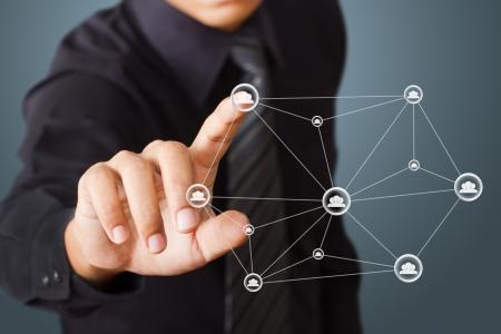 apoyo social: estructura de red social Foto de archivo