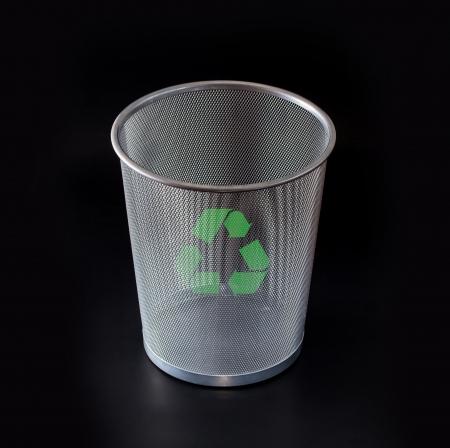 papelera de reciclaje: La papelera de reciclaje Foto de archivo