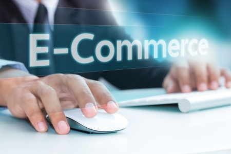 Hand typing on laptop computer keyboard  E-Commerce Stock Photo - 19137691