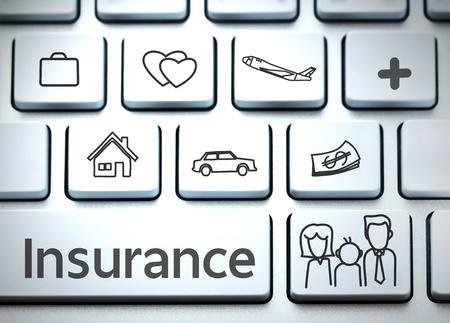 property insurance: Teclado para el seguro