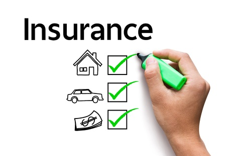 hand drawing Insurance concept Stock Photo