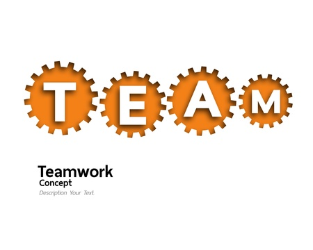 gears teamwork concept Stock Photo - 19148205