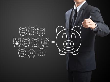 Piggy Bank, Saving concept Stock Photo