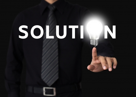 idea or innovation change problem to solution concept Stock Photo - 19926441