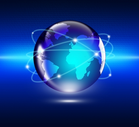 world ball: Internet Concept of global business