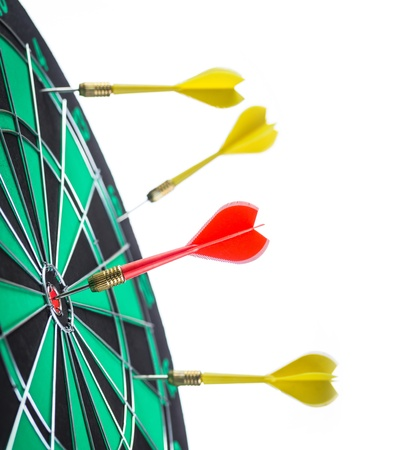 darts arrows in the target photo