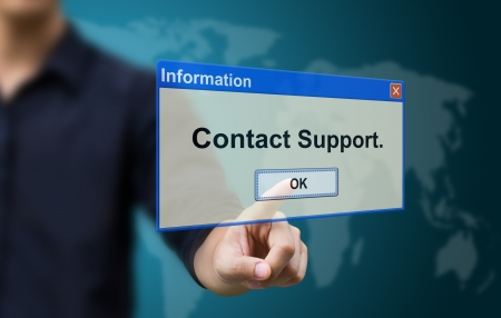 Business hand touch contact support photo