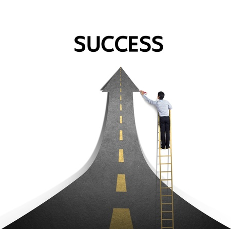 Drawing a paved road to Success photo