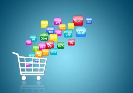 インターネットやオンライン ショッピングの概念