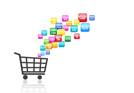 online trading: Internet and Online Shopping Concept Stock Photo