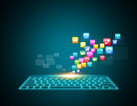 digitální: Počítačová klávesnice jako symbol high-tech Reklamní fotografie