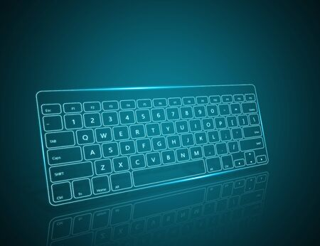input device: Computer keyboard as symbol of high technology