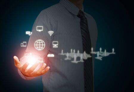 Modern wireless technology and social media photo