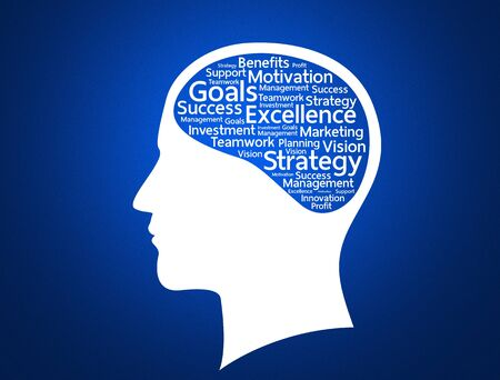Innovate business concept made with words in brain photo