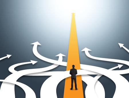 서로 다른 방향과 혼동 사업의 개념 스톡 콘텐츠