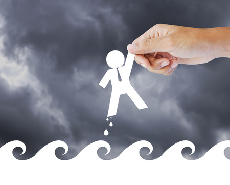 support group: Leader helping a businessman from crisis, leadership concept