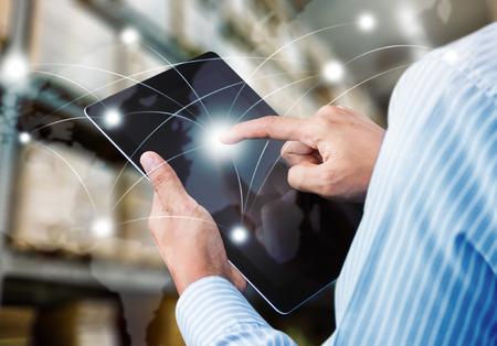 빠른 또는 인스턴트 운송의 개념, 전세계 온라인 제품 주문