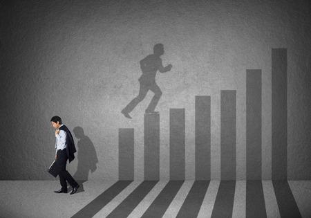 Zakelijke en carrière kracht begrip