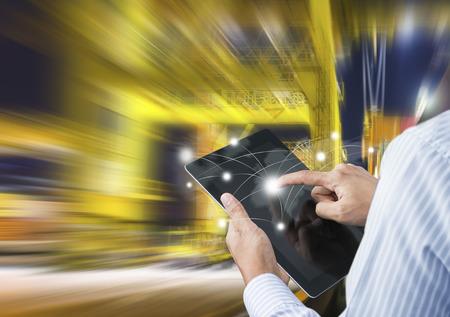 빠른이나 인스턴트 운송의 개념, 전 세계적으로 온라인 제품 주문 스톡 콘텐츠