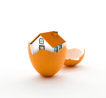 eggshell: House in eggshell, home insurance, house insurance