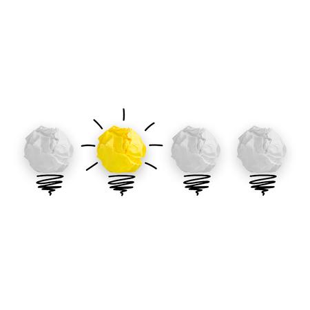 Licht bub het grote idee concept, innovatieve lamp Stockfoto