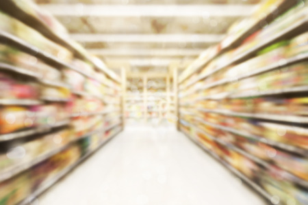 Abstract blurred photo of store in department store bokeh background