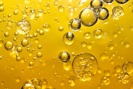 golden yellow bubble oil, abstract background Zdjęcie Seryjne - 96653330