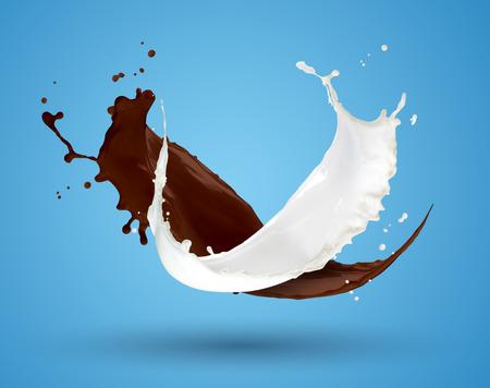Mix Liquid Chocolate Milk Splash