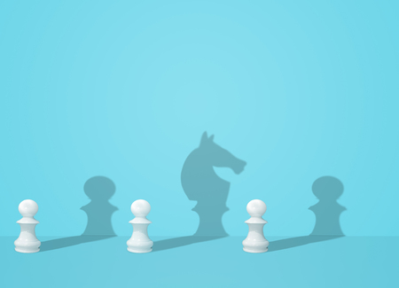 chess shadow on wall, business strategy plan