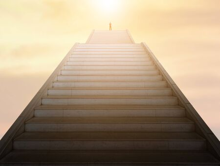 Staircase going up, successful business concept 版權商用圖片