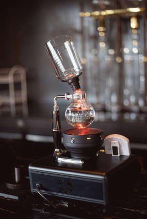 brew drip coffee in cafe 免版税图像