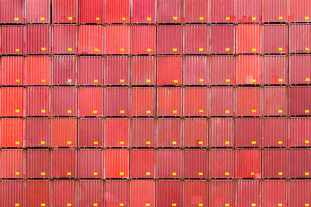 stack of containers, cargo logistics and warehouse 免版税图像