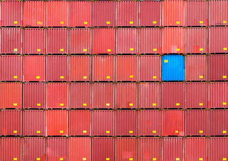 stack of containers, cargo logistics and warehouse with different selection concept