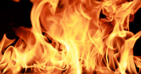 closeup Fire flame abstract background