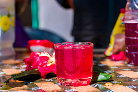An indian Juice of a flower with selective focus. Banque d'images