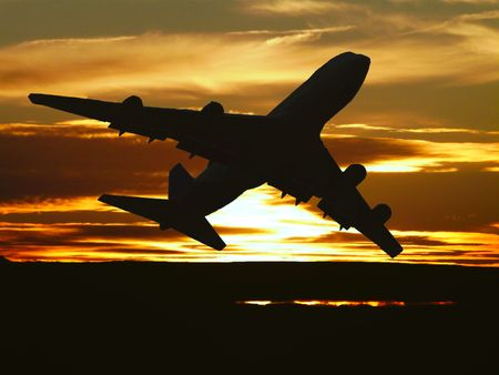 plane taking off Imagens - 6368016