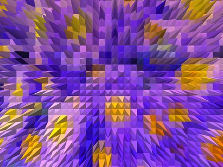 abstract representation of lilac colored flowers Imagens - 6406024