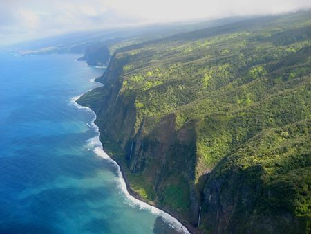 the famous coastline of the big island photo