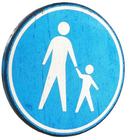 traffic sign for pedestrians Imagens - 6405961