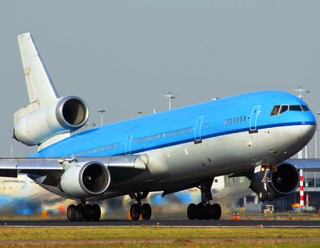 blue plane rotating