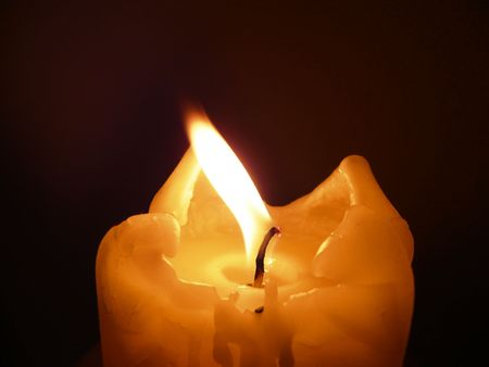 a close up of a romantic candle