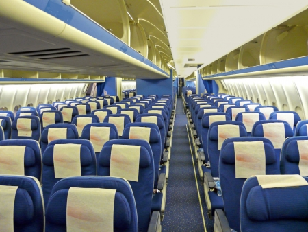 jumbo: an empty shot of an aircraft cabin Editorial