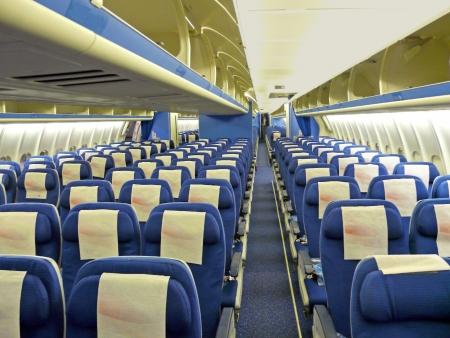 an empty shot of an aircraft cabin Editorial