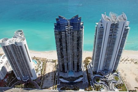 hotels from helicopter Imagens